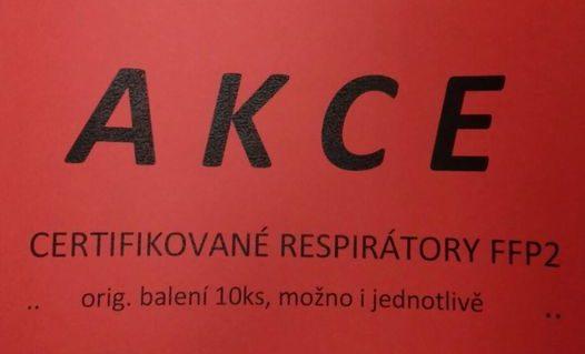 Certifikované respirátory FFP2 – skladem